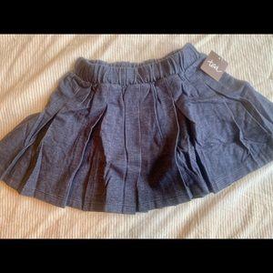 Tea Collection Denim Pleated Skirt Blue Jean New
